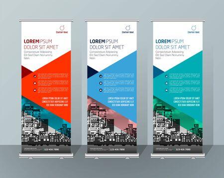 Banner Design Cartello Pubblicità Brochure Flyer Template Vector X-banner e Street Business Bandiera di convenienza, Layout Background