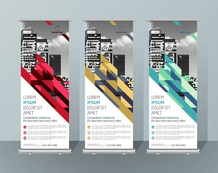 Banner Design Signboard Advertising Brochure Flyer Template Vector X-banner and Street Business Flag of Convenience, Layout Background