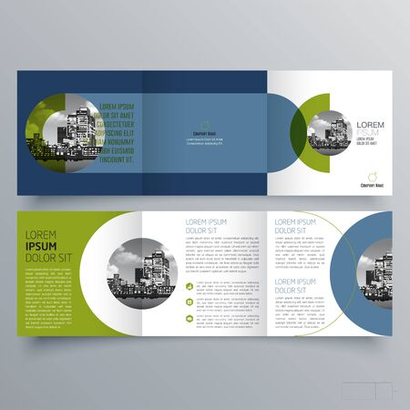 Brochure design, brochure template, creative tri-fold, trend brochure Vettoriali