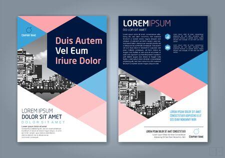 fond de conception de formes géométriques minimales pour l'affiche de dépliant de brochure de couverture de livre de rapport annuel d'entreprise