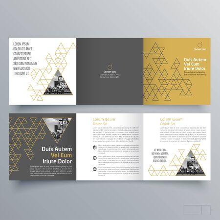Brochure design, brochure template, creative tri-fold, trend brochure Ilustração Vetorial
