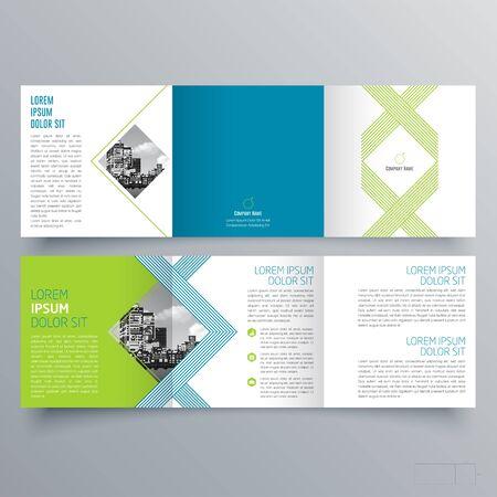Brochure design, brochure template, creative tri-fold, trend brochure Ilustración de vector