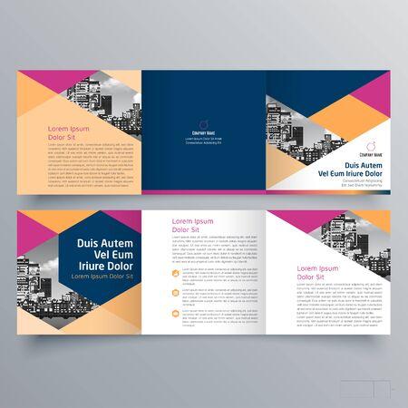 Broschürendesign, Broschürenvorlage, kreative Dreifachfaltung, Trendbroschüre