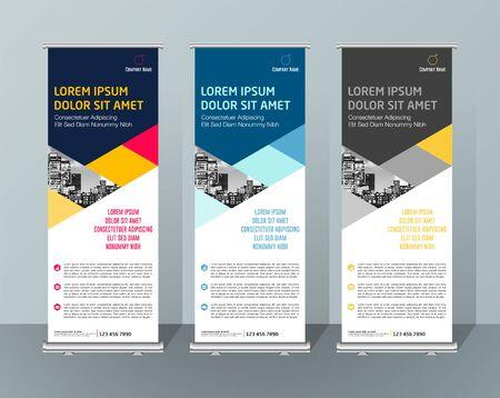Bannière Design Enseigne Publicité Brochure Flyer Template Vecteur X-banner Et Street Business Drapeau De Commodité, Fond De Mise En Page