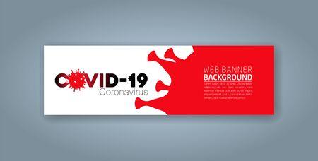 Covid-19 Coronavirus concept inscription typography design logo, Contagious diseases of the characters when exposed to a virus, dangerous virus vector illustration Ilustração