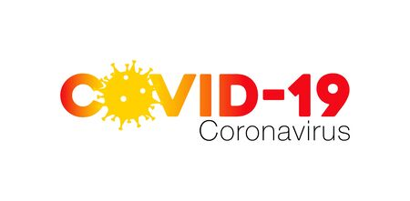 Covid-19 Coronavirus concept inscription typography design  , Contagious diseases of the characters when exposed to a virus, dangerous virus vector illustration