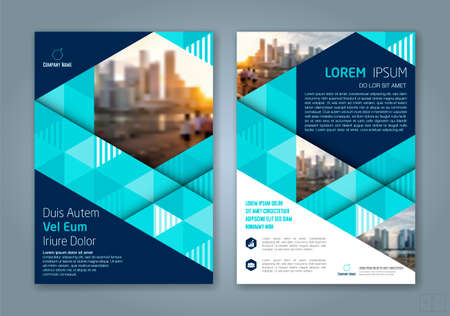 minimal geometric shapes design background for business annual report book cover brochure flyer poster Vettoriali