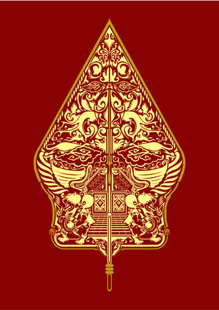 gunungan インドネシアのワヤンをベクトルします。