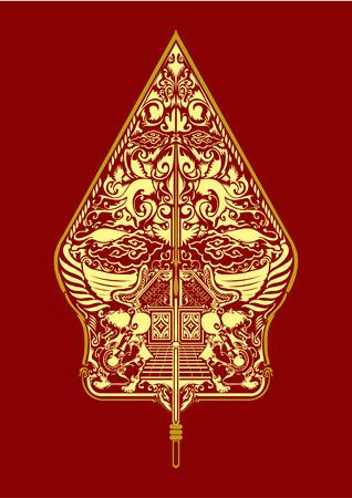 indonesia culture: vector wayang gunungan indonesia