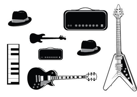 vector music instrument Illustration