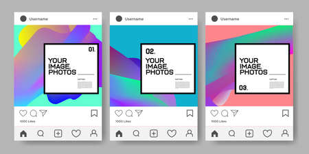 Vector social media post and feed design template Imagens