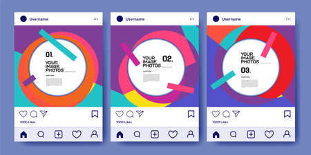 Vector social media post and feed design template
