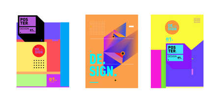 Vector colorful trendy abstract design template for poster, cover, banner, advertisement, social media feed and social media story Stock Photo