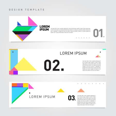 Vector simple minimalist template design for corporate, company, marketing, finance and formal website banner Ilustração Vetorial