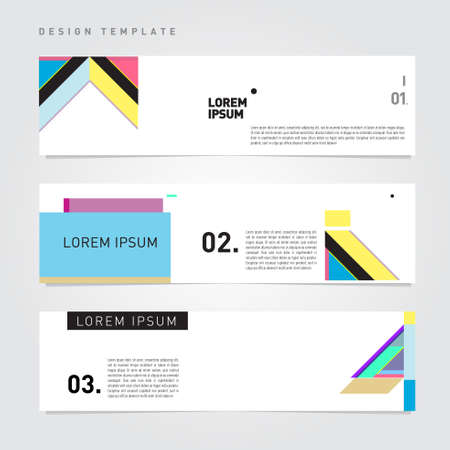 Vector simple minimalist template design for corporate, company, marketing, finance and formal website banner Vetores