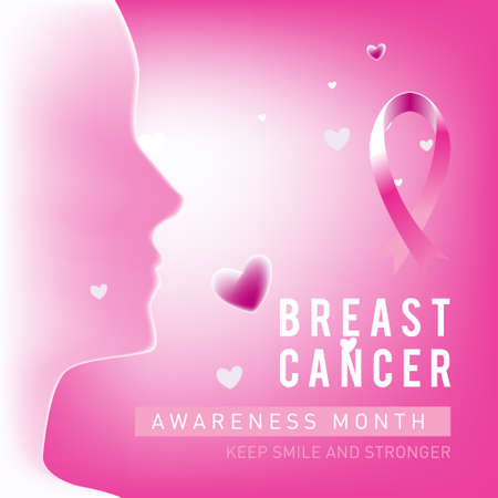 Breast cancer awareness month design campaign for social media poster, banner, feed, website, campaign