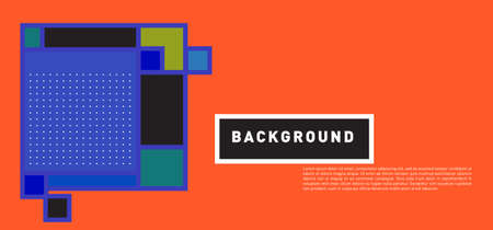 Vector abstract colorful rectangle background for banner template