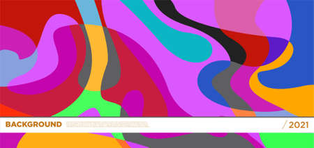 Vector colorful liquid abstract background pattern