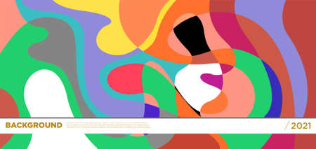 Vector colorful liquid abstract background patterns
