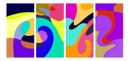 Vector colorful liquid abstract background patterns Ilustración de vector