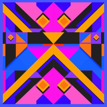 Trendy geometric elements memphis pattern. Retro style texture pattern and elements. Modern abstract design from Borneo Indonesian culture Vektoros illusztráció