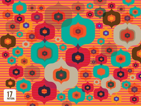 twill: Simple colorful flower pattern wallpaper background
