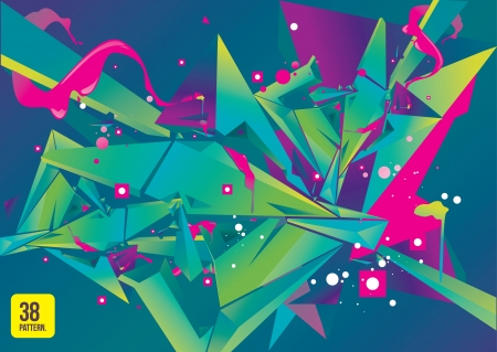 modish: colorful abstract geometric background