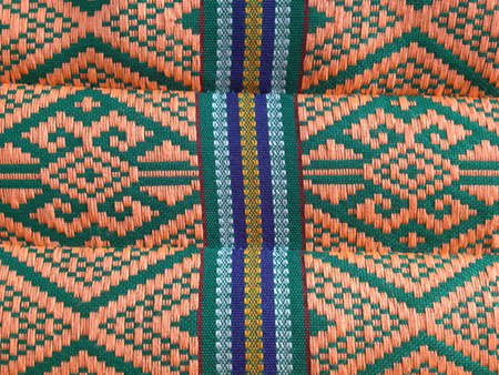 traditional textured: Thai Pillow North-East style Stock Photo