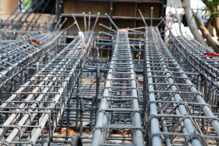 reinforcing bar: Reinforcing steel bars for building armature  Stock Photo