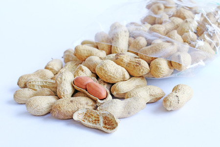 Peanuts isolated on white background  photo