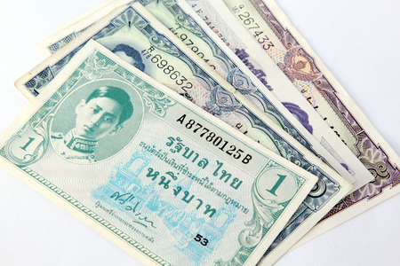 baht: Thai baht as background