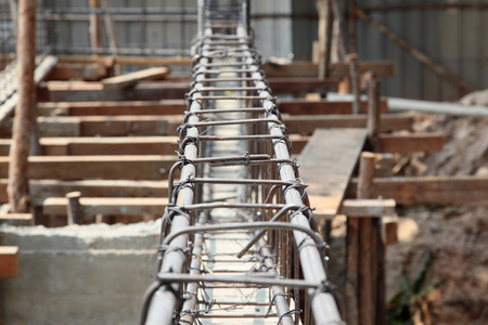 reinforcing: Reinforcing steel bars for building armature  Stock Photo