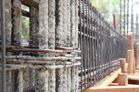 Reinforcing steel bars for building armature  Standard-Bild