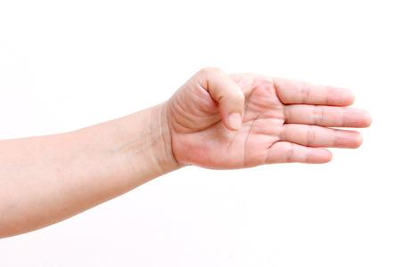 asl sign: Finger sign in American Sign Language (ASL).