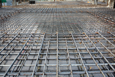 Steel bars mesh reinforcement  Standard-Bild