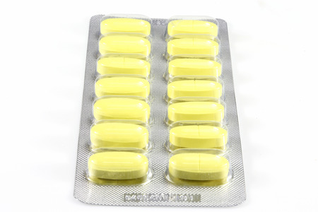 Pills  in blister pack closeup  photo
