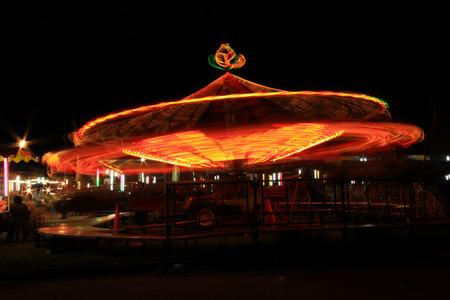 The fair at night.