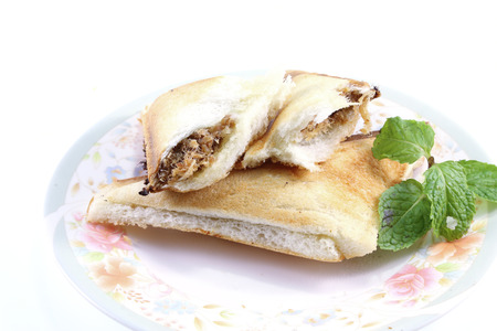 shredded Pork with Salad Cream Sandwich photo