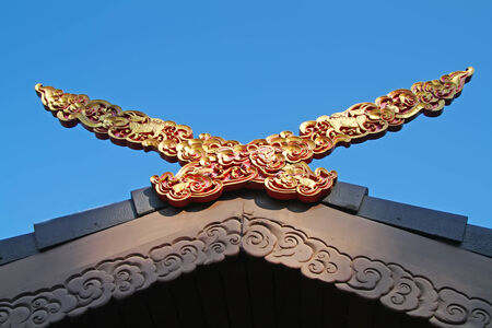 Thai style roof for house, Northern part Thailand  photo