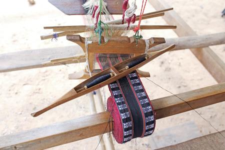 hand woven: Homemade hand weaving cotton Thailand