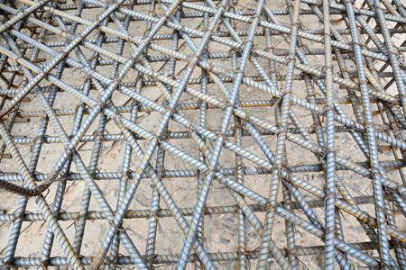 reinforcement: Steel bars mesh reinforcement  Stock Photo