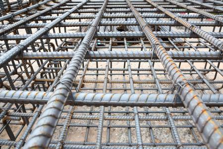 Steel bars mesh reinforcement Stock Photo