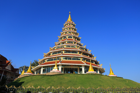 relics: Buddha Relics Temple in thailand on north Chiang Rai Stock Photo