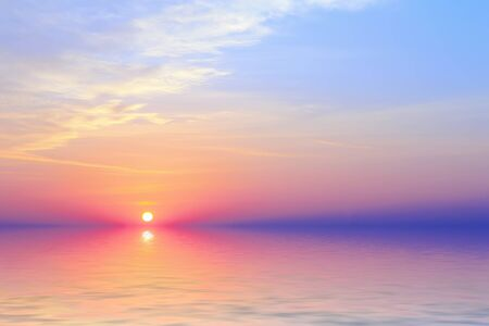 abstract background with the sunset on it Stock Photo