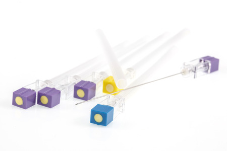 needle tip: spinal needle.Focus on the tip of the needle