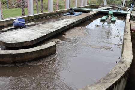 onsite: waste water treatment process on hospital