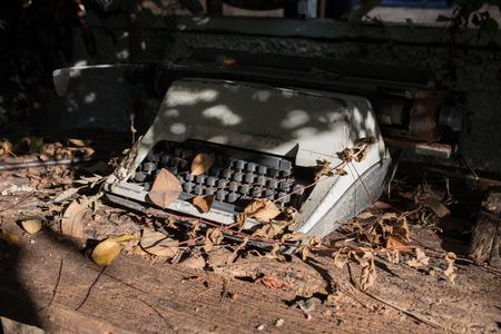 dumped: Old Thai typewriter,dumped
