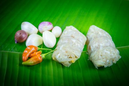 northeastern: Sour pork : Thai northeastern style food Stock Photo