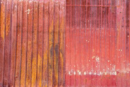zinc: rust on the old zinc plate