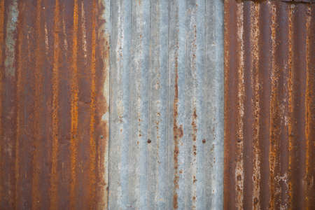 raw material: Zinc old metal wall background